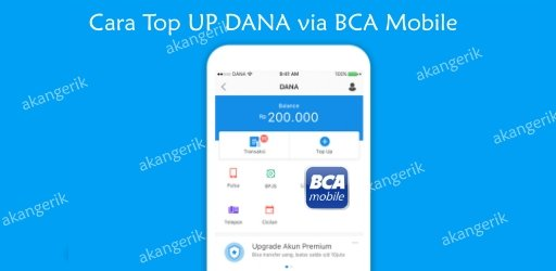 cara top up dana bca