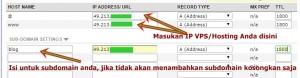 domain ke hosting
