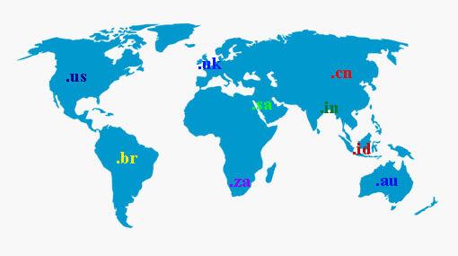 daftar domain, domain negara, kode domain negara, contoh domain negara, domain di seluruh dunia, domain inggris