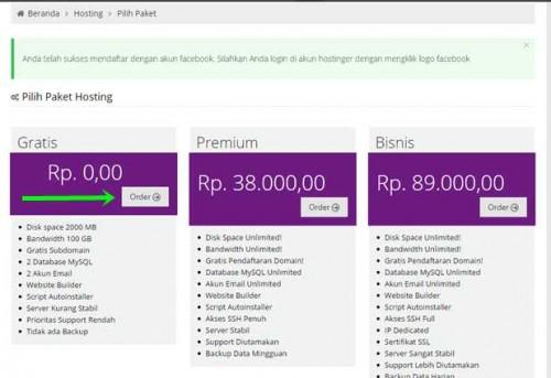 hosting web gratis, cara mendapatkan web hosting gratis, hosting gratis unlimited